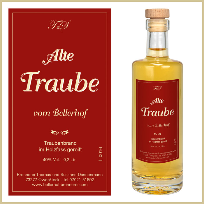 Bellerhof Alter Traubenbrand, 200 ml