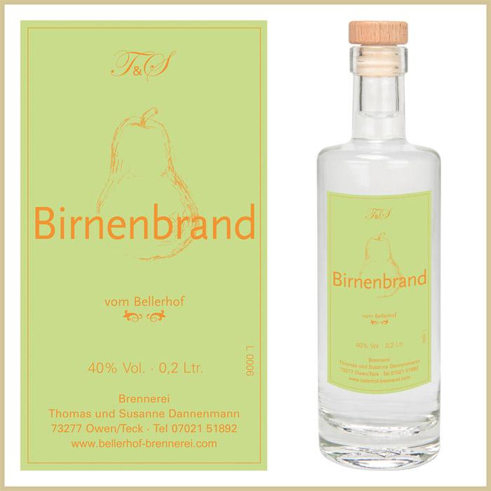 Bellerhof Birnenbrand, 200 ml