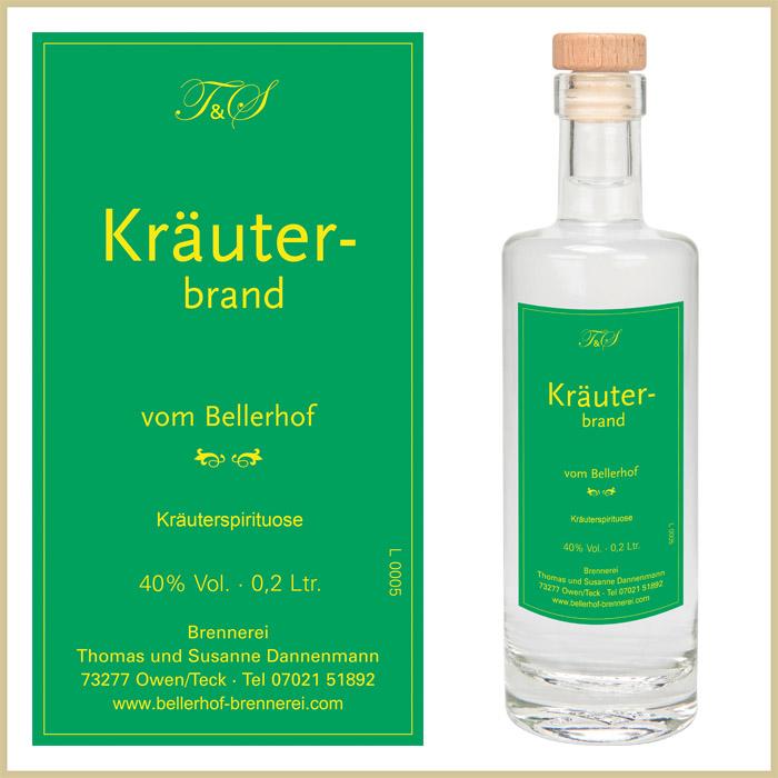 Bellerhof Kräuterbrand, 200 ml