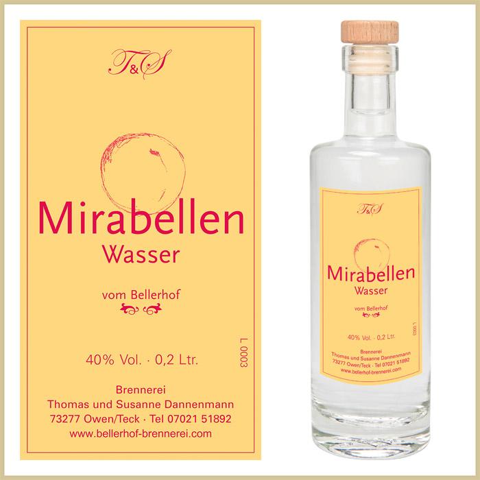 Bellerhof Mirabellenwasser, 200 ml