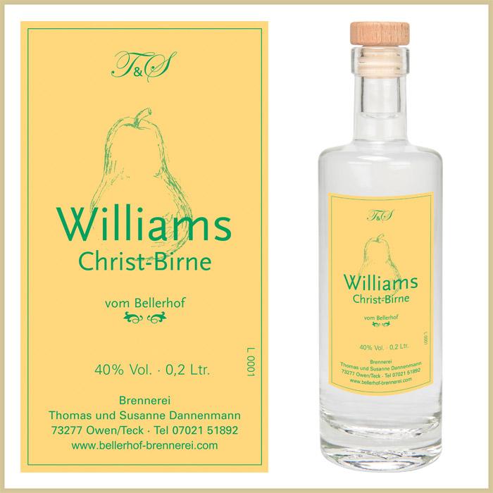 Bellerhof Williams-Christ-Birne, 200 ml