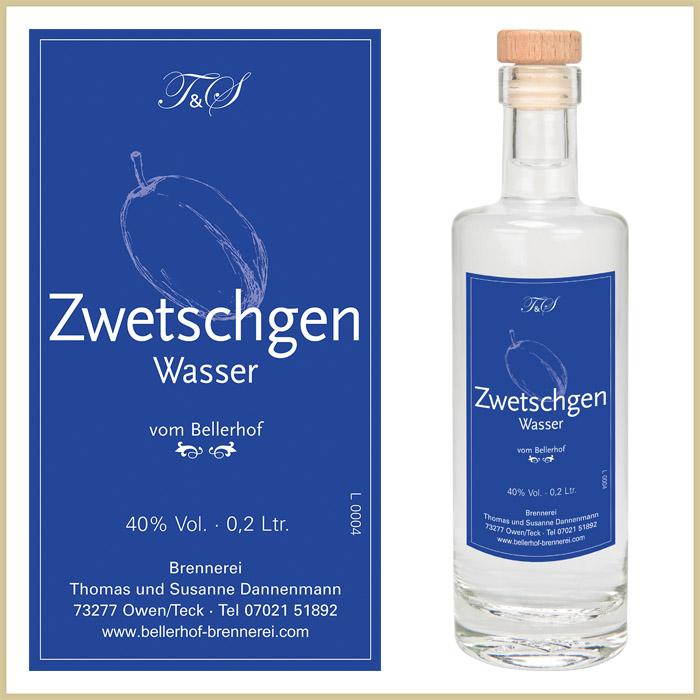 Bellerhof Zwetschgenwasser, 200 ml