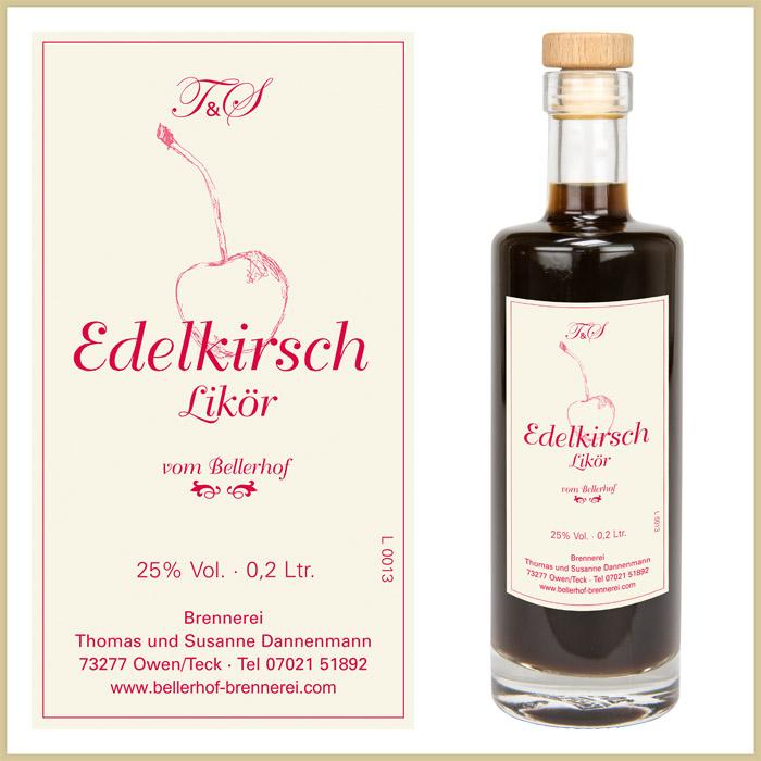 Bellerhof Edelkirschlikör, 200 ml