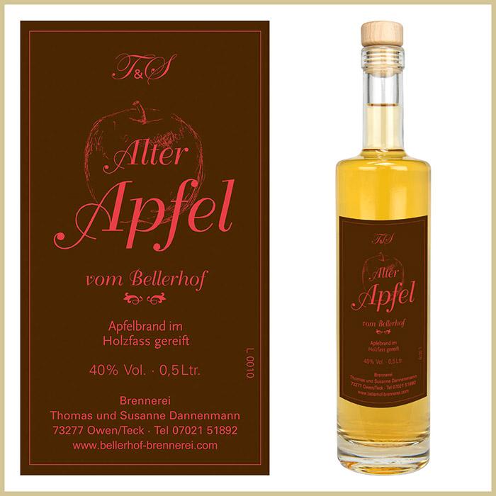 Bellerhof Alter Apfelbrand, 500 ml