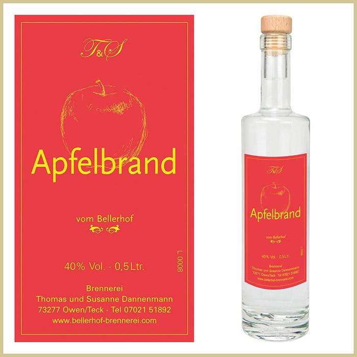Bellerhof Apfelbrand, 500 ml