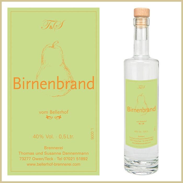 Bellerhof Birnenbrand, 500 ml