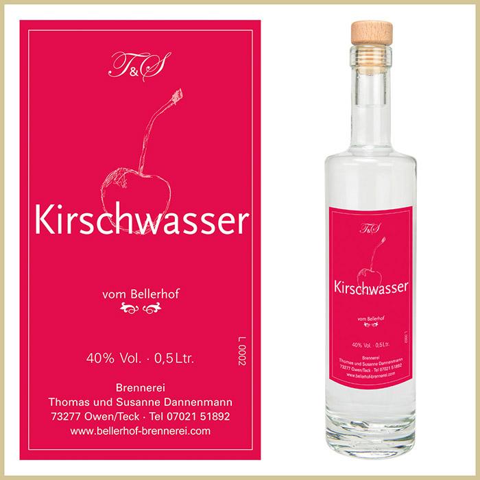 Bellerhof Kirschwasser, 500 ml