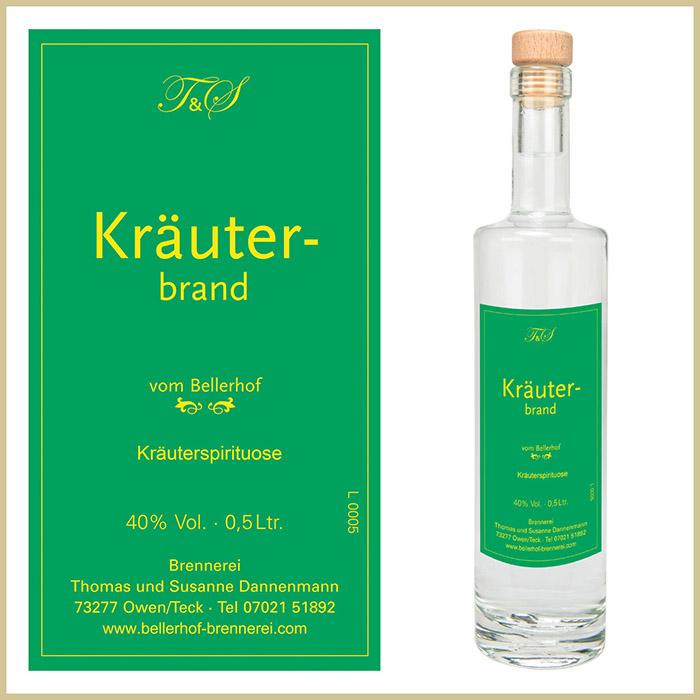 Bellerhof Kräuterbrand, 500 ml