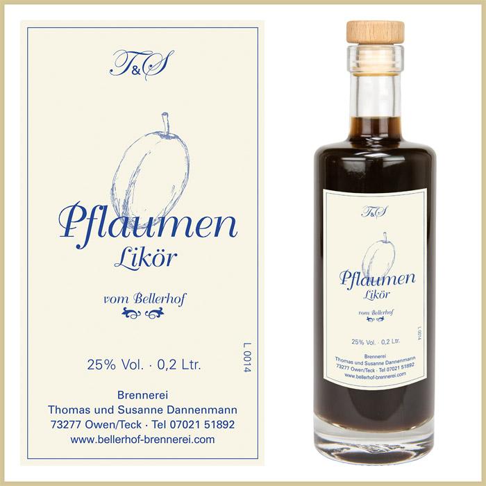 Bellerhof Pflaumenlikör, 200 ml