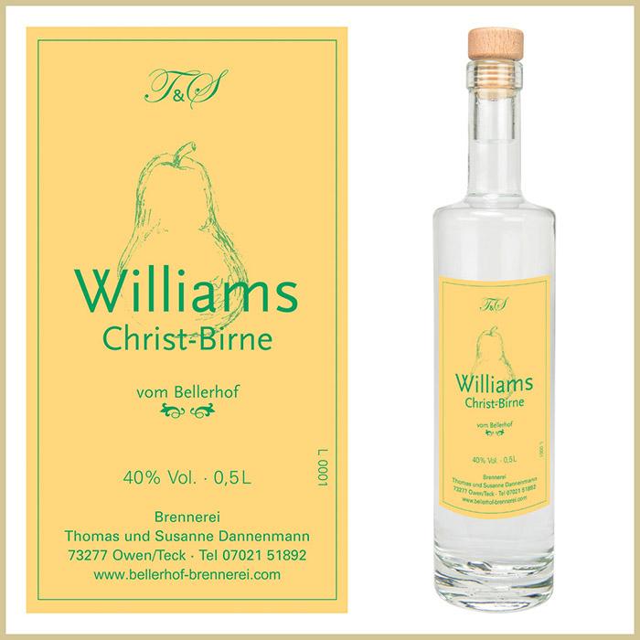 Bellerhof Williams-Christ-Birne, 500 ml