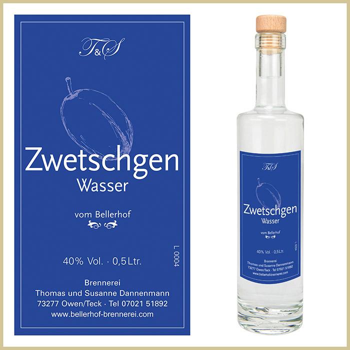 Bellerhof Zwetschgenwasser, 500 ml