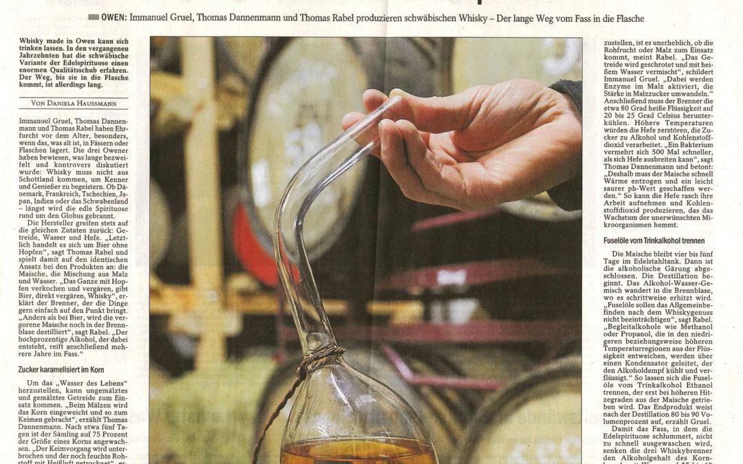 """""""Destilliertes Bier ohne Hopfen"""" – Pressebericht der Esslinger Zeitung vom 3. Januar 2017"""